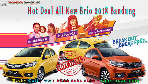 Hot Deal All New Brio 2018 Bandung