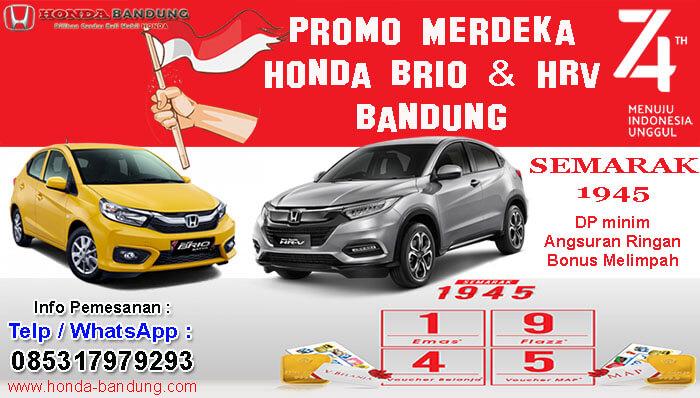Promo Merdeka Honda Brio dan HRV Bandung 2019