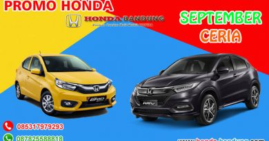 Promo September Ceria Honda Bandung