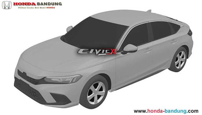 Beredar Gambar Paten Honda Civic Terbaru Dengan Nuansa Accord dan Insight